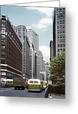 6th Avenue New York 1950 Greeting Card