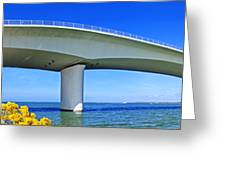 6x1 Sarasota Skyline With Ringling Causeway Bridge Greeting Card