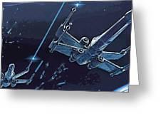 2 Star Wars Art Greeting Card