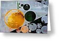 Abstract Painting - Onyx Greeting Card