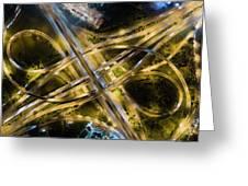 Aerial View Of Traffic Jams At Nonthaburi Intersection In The Evening, Bangkok. Greeting Card by Pradeep Raja PRINTS
