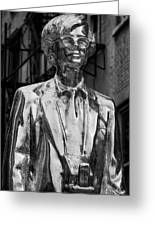Andy Warhol Statue Union Square Nyc Greeting Card