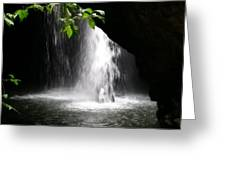 Australia - Peering Into Natural Arch Waterfall Greeting Card