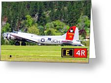 B-17 Bomber Taxiing 1 Greeting Card