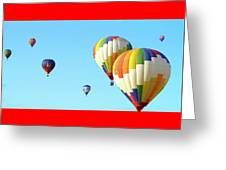 7 Balloons Greeting Card