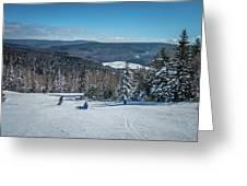 Beautiful Nature And Scenery Around Snowshoe Ski Resort In Cass  Greeting Card