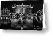 Bellagio Hotel And Casino At Night Greeting Card