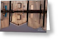 Boathouse Reflections  Greeting Card