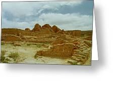 Chaco Canyon Ruins 7 Greeting Card