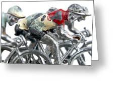 Cyclists Greeting Card