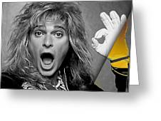 David Lee Roth Collection Greeting Card