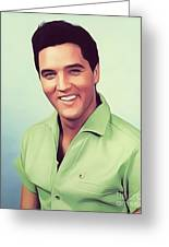 Elvis Presley, Rock And Roll Legend Greeting Card