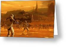 Episode 2 Star Wars Art Greeting Card