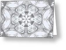 Fern Frost Mandala Greeting Card