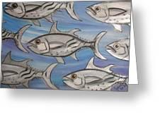 7 Fish Greeting Card