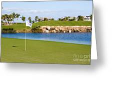 Florida Gold Coast Resort Golf Course Greeting Card by ELITE IMAGE photography By Chad McDermott