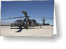 Hh-60g Pave Hawk With Pararescuemen Greeting Card