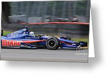 High Speed Indycar Greeting Card