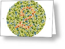 Ishihara Color Blindness Test Greeting Card