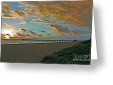 7- Juno Beach Pier Greeting Card