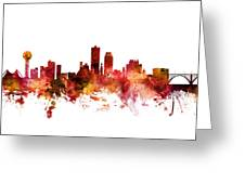 Knoxville Tennessee Skyline Greeting Card
