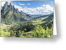 Landscape Around Kasi In North Laos Greeting Card