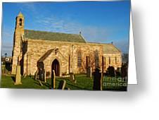 Lindisfarne Priory Greeting Card