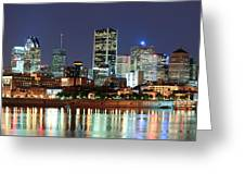 Montreal Over River At Dusk  Greeting Card