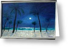 7 Moonlight Palms  Greeting Card