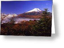 Mount Fuji In Autumn Greeting Card