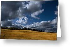 Mountain Farm Greeting Card by Mark Smith