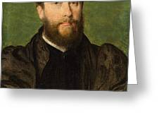 Portrait Of A Man Greeting Card
