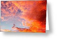 Red Cloudscape At Sunset. Greeting Card