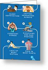 7 Signs You Need A Body Massage Now Greeting Card