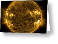 Solar Activity On The Sun Greeting Card
