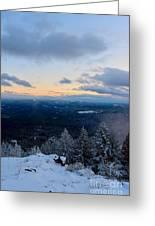 Spencer Butte Winter Summit, Eugene Oregon Feb 2018 Greeting Card