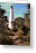 St Marks Lighthouse Greeting Card