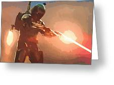 Star Wars Movie Poster Greeting Card