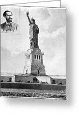 Statue Of Liberty, 1886 Greeting Card