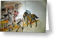 Still Racing After 400 Yrs Album Greeting Card