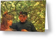 The Promise Walker Henry Scott Tuke Greeting Card