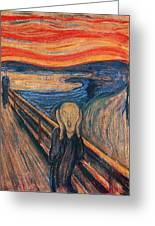 The Scream Ver 1893 Edvard Munch Greeting Card