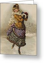Vintage Christmas Card Greeting Card