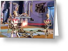 Vintage Star Wars Art Greeting Card