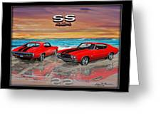 70 Chevell Ss 454 Greeting Card