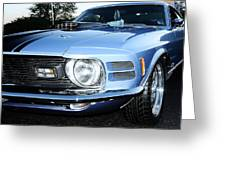 70' Mach 1 Greeting Card