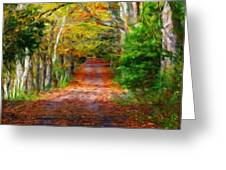 Nature Landscape Paintings Greeting Card