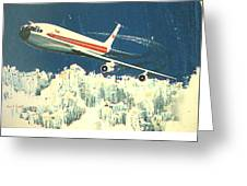 707 In The Air Greeting Card