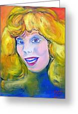 70's Blue Eyed Blonde Greeting Card