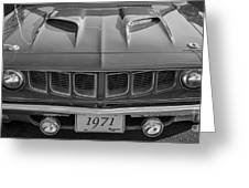 '71 Cuda Greeting Card